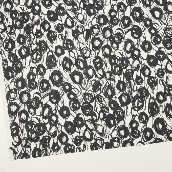 コットン×ペイント(ホワイト&ダークネイビー)×ボイル イメージ2