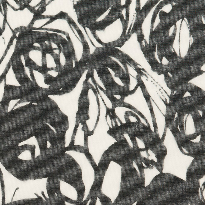 コットン×ペイント(ホワイト&ダークネイビー)×ボイル イメージ1