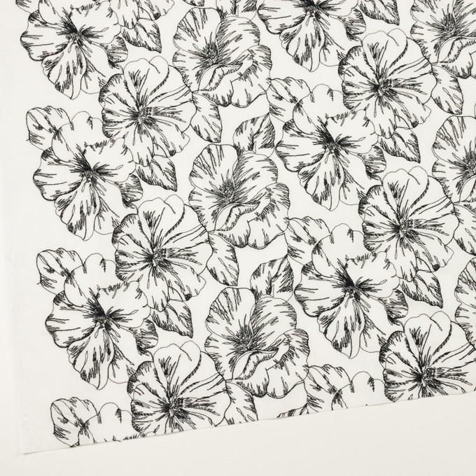コットン×フラワー(オフホワイト&ブラック)×ローン刺繍_全3色 イメージ2