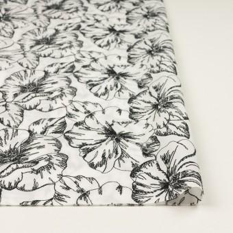 コットン×フラワー(オフホワイト&ブラック)×ローン刺繍_全3色 サムネイル3