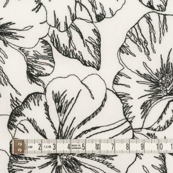 コットン×フラワー(オフホワイト&ブラック)×ローン刺繍_全3色 サムネイル4