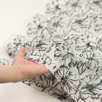 コットン×フラワー(オフホワイト&ブラック)×ローン刺繍_全3色 サムネイル5