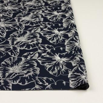 コットン×フラワー(ダークネイビー&オフホワイト)×ローン刺繍_全3色 サムネイル3