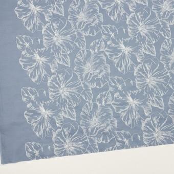 コットン×フラワー(フロスティブルー&オフホワイト)×ローン刺繍_全3色 サムネイル2