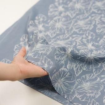 コットン×フラワー(フロスティブルー&オフホワイト)×ローン刺繍_全3色 サムネイル5