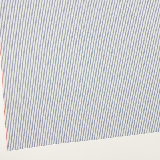 コットン×ストライプ(サックスブルー&キナリ)×シーチング イメージ2