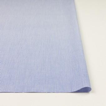 コットン&ポリエステル×ストライプ(ブルー)×ポプリン サムネイル3