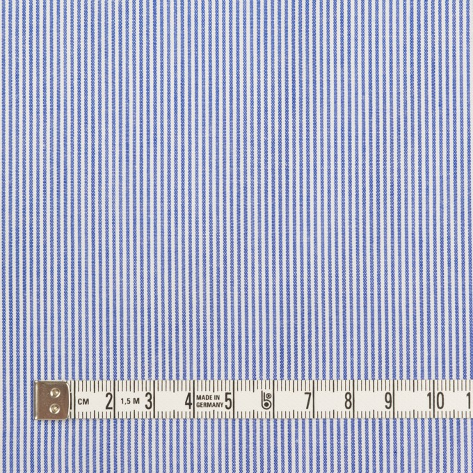 コットン&ポリエステル×ストライプ(ブルー)×ポプリン イメージ4