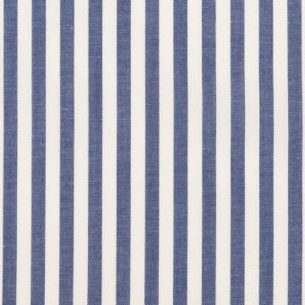 コットン×ストライプ(ブルー)×ローン サムネイル1