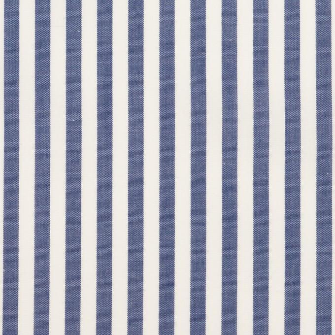 コットン×ストライプ(ブルー)×ローン イメージ1