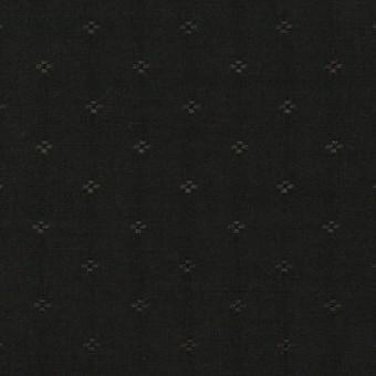 コットン&シルク×小紋(ブラック)×ローンジャガード_全2色