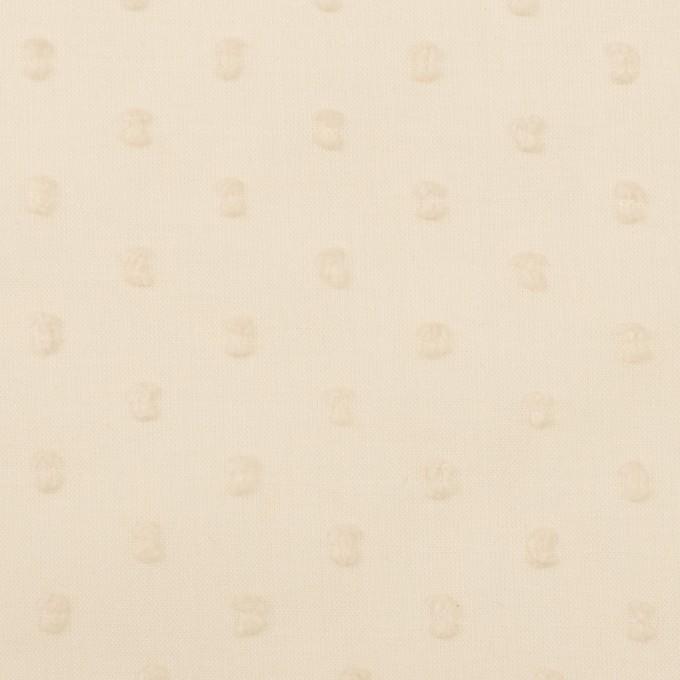 コットン×ドット(キナリ)×ボイルカットジャガード_全2色 イメージ1