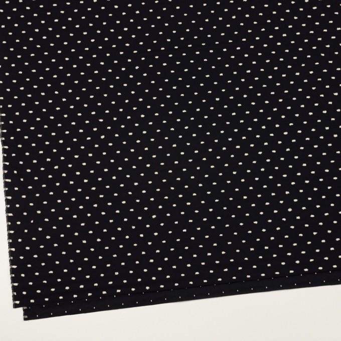 コットン×ドット(ブラック&オフホワイト)×ローンカットジャガード イメージ2