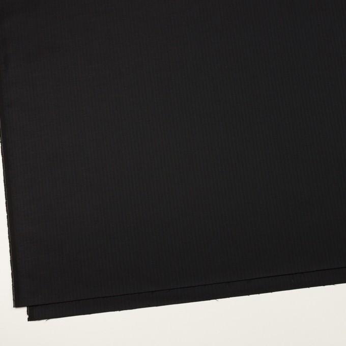 コットン&レーヨン混×ストライプ(ダークネイビー&ブラック)×サージストレッチ イメージ2