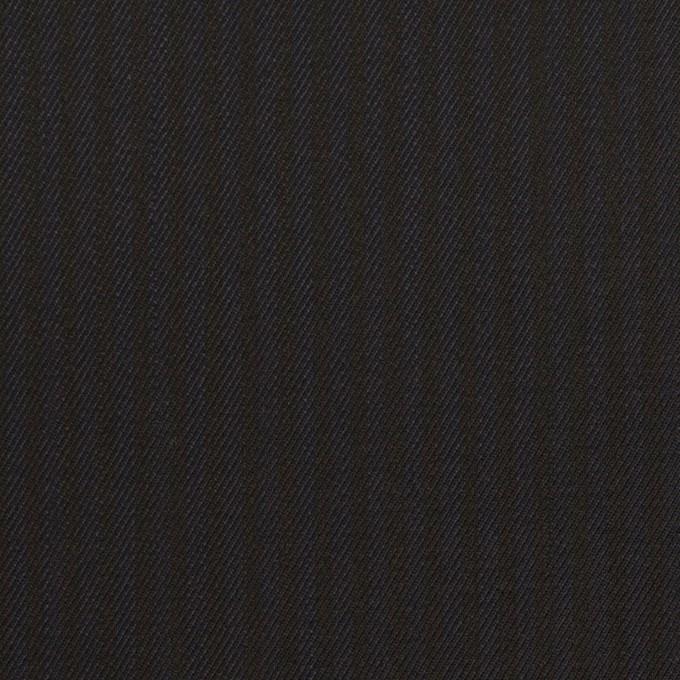 コットン&レーヨン混×ストライプ(ダークネイビー&ブラック)×サージストレッチ イメージ1
