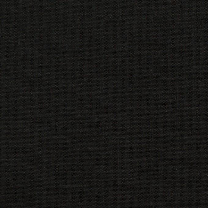 コットン×無地(ブラック)×サッカー イメージ1