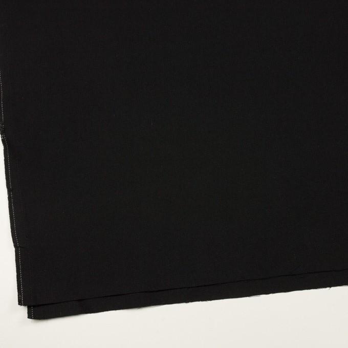 コットン×無地(ブラック)×斜子織 イメージ2