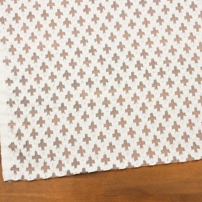 コットン&ナイロン×幾何学模様(オフホワイト)×オーガンジー・カットジャガード イメージ2