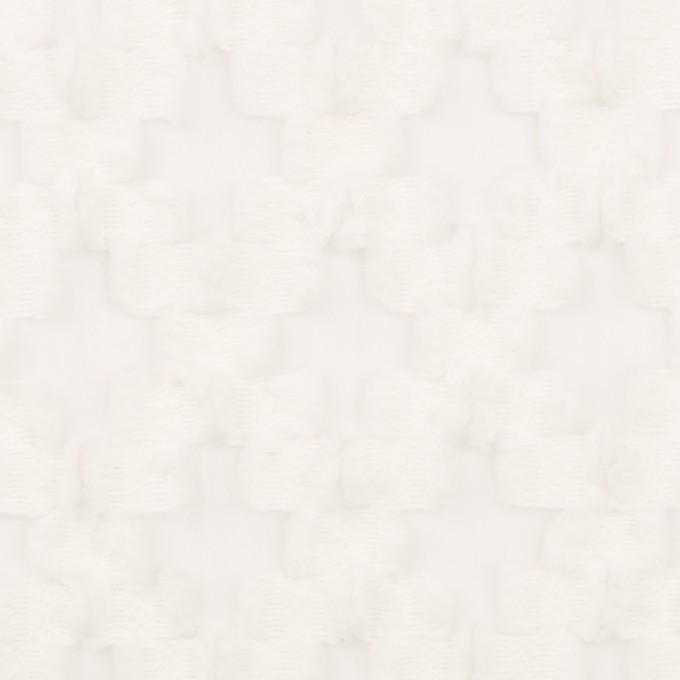 コットン&ナイロン×幾何学模様(オフホワイト)×オーガンジー・カットジャガード イメージ1