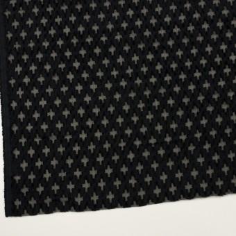 コットン&ナイロン×幾何学模様(ブラック)×オーガンジー・カットジャガード サムネイル2
