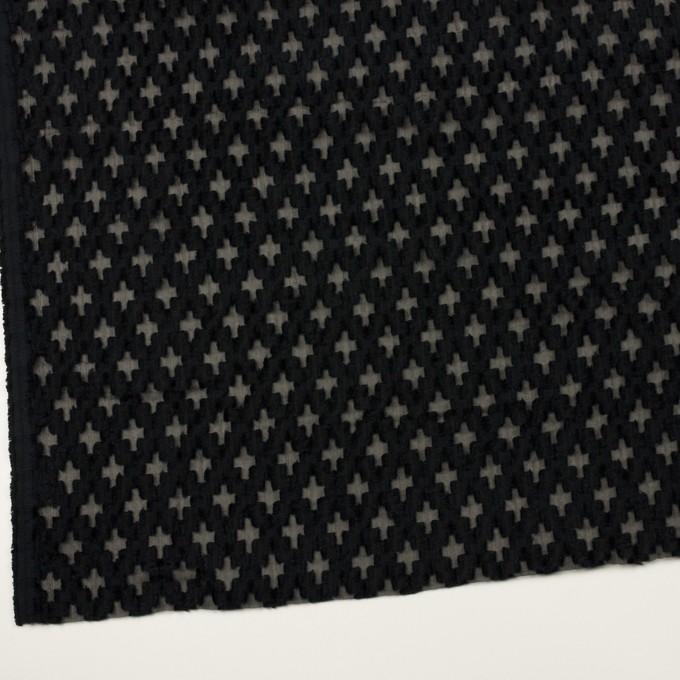 コットン&ナイロン×幾何学模様(ブラック)×オーガンジー・カットジャガード イメージ2