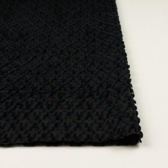 コットン&ナイロン×幾何学模様(ブラック)×オーガンジー・カットジャガード サムネイル3
