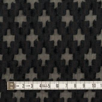 コットン&ナイロン×幾何学模様(ブラック)×オーガンジー・カットジャガード サムネイル4