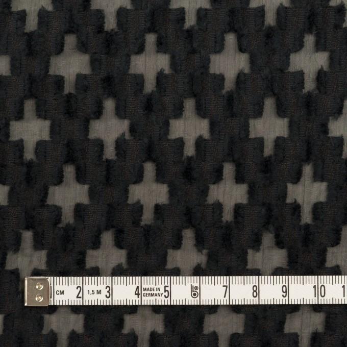コットン&ナイロン×幾何学模様(ブラック)×オーガンジー・カットジャガード イメージ4