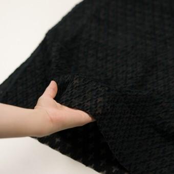 コットン&ナイロン×幾何学模様(ブラック)×オーガンジー・カットジャガード サムネイル5