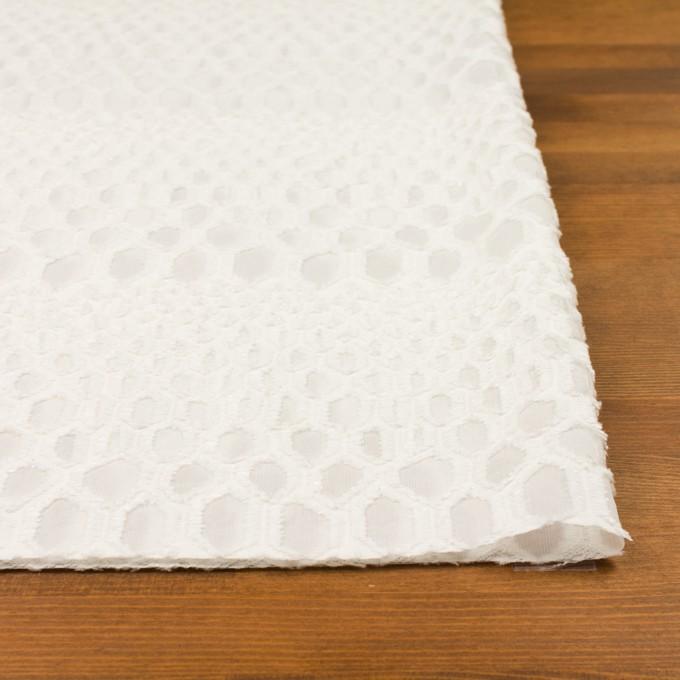 レーヨン&シルク×幾何学模様(オフホワイト)×ジョーゼット・カットジャガード イメージ3