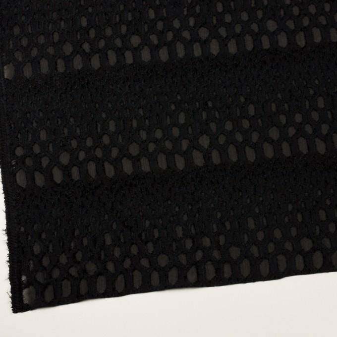 レーヨン&シルク×幾何学模様(ブラック)×ジョーゼット・カットジャガード イメージ2