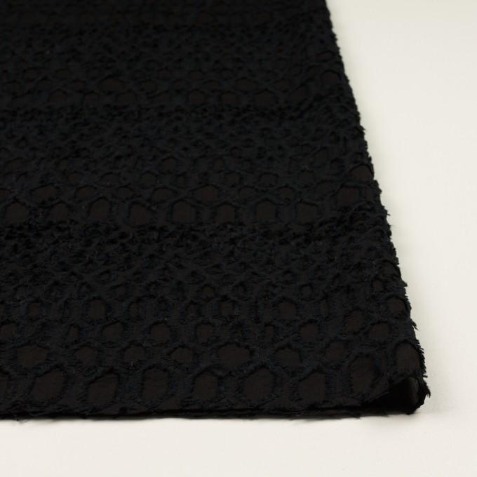 レーヨン&シルク×幾何学模様(ブラック)×ジョーゼット・カットジャガード イメージ3