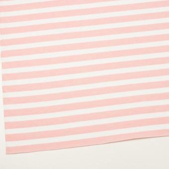 コットン&ポリエステル×ボーダー(ピンク)×天竺ニット_全3色 サムネイル2