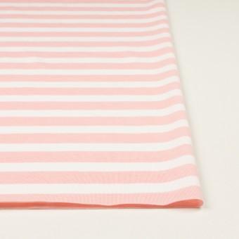 コットン&ポリエステル×ボーダー(ピンク)×天竺ニット_全3色 サムネイル3