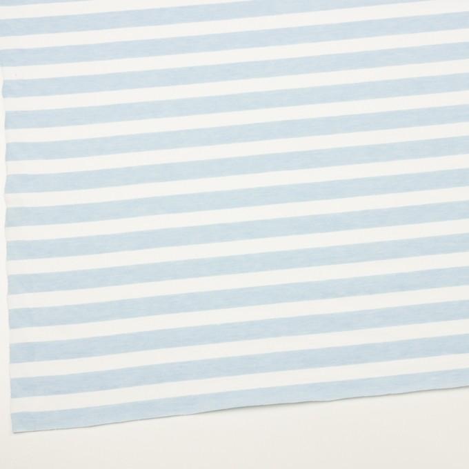コットン&ポリエステル×ボーダー(サックス)×天竺ニット_全3色 イメージ2