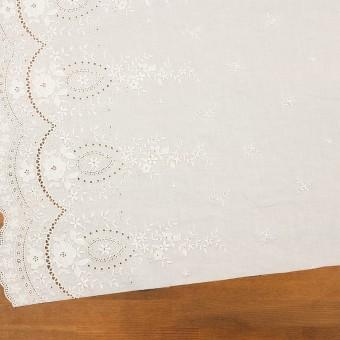 コットン×フラワー(オフホワイト)×ローン刺繍 サムネイル2