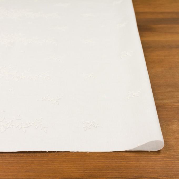 コットン×フラワー(オフホワイト)×ローン刺繍 イメージ3