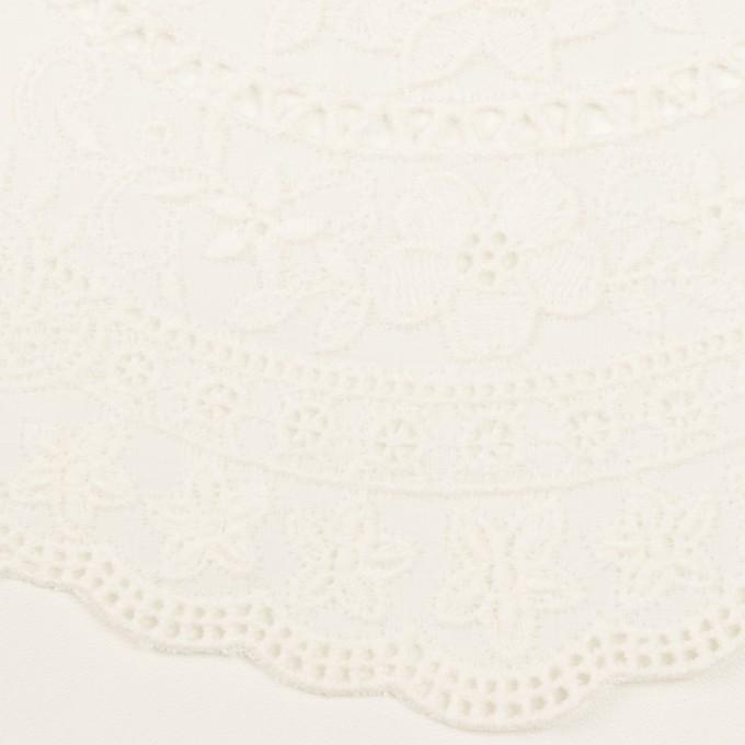 コットン×フラワー(オフホワイト)×ローン刺繍 イメージ1