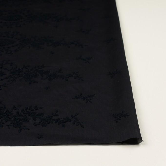 コットン×フラワー(ブラック)×ボイル刺繍 イメージ3
