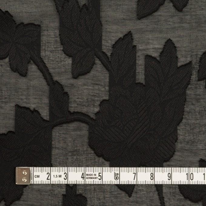 コットン×フラワー(ブラック)×ボイルカットジャガード イメージ4