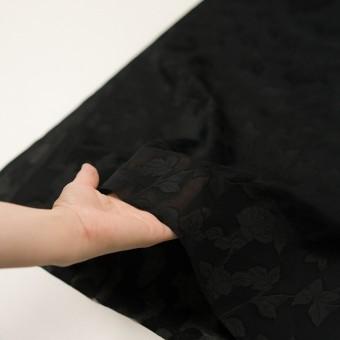 コットン×フラワー(ブラック)×ボイルカットジャガード サムネイル5