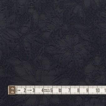 コットン&ポリエステル×フラワー(ネイビー)×ジャガード サムネイル4