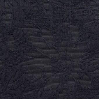 コットン&ポリエステル×フラワー(ネイビー)×ジャガード サムネイル1