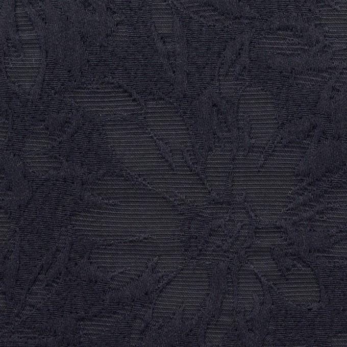 コットン&ポリエステル×フラワー(ネイビー)×ジャガード イメージ1