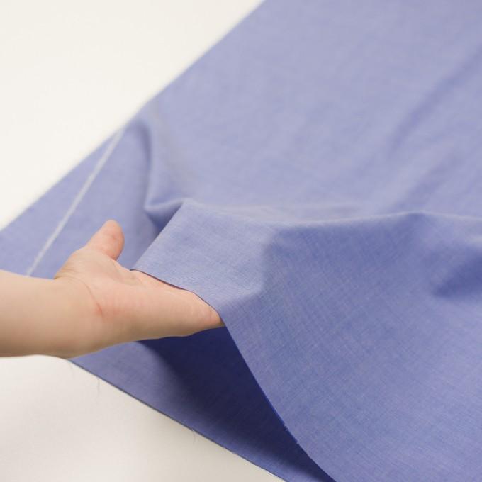 コットン&テンセル混×無地(ブルー)×シャンブレー・ローン_全3色 イメージ5