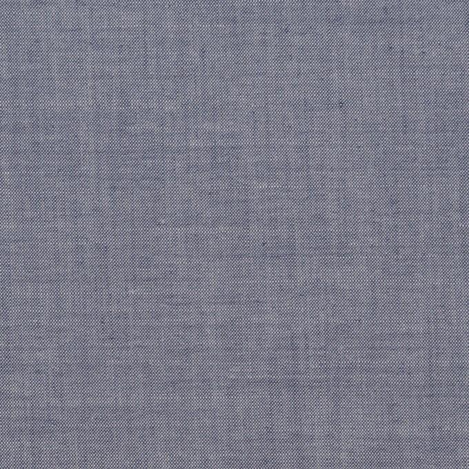 コットン&テンセル混×無地(アッシュネイビー)×シャンブレー・ローン_全3色 イメージ1