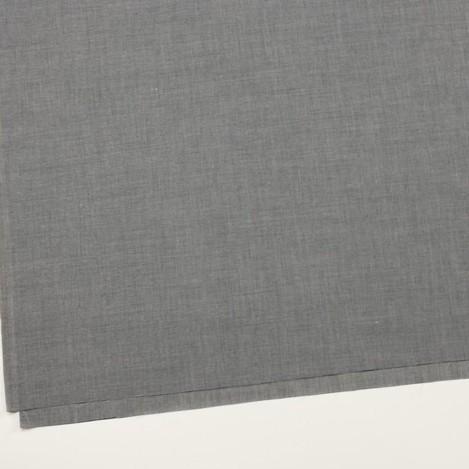 コットン&テンセル混×無地(チャコールグレー)×シャンブレー・ローン_全3色 イメージ2