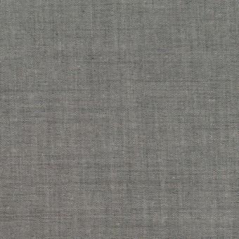 コットン&テンセル混×無地(チャコールグレー)×シャンブレー・ローン_全3色