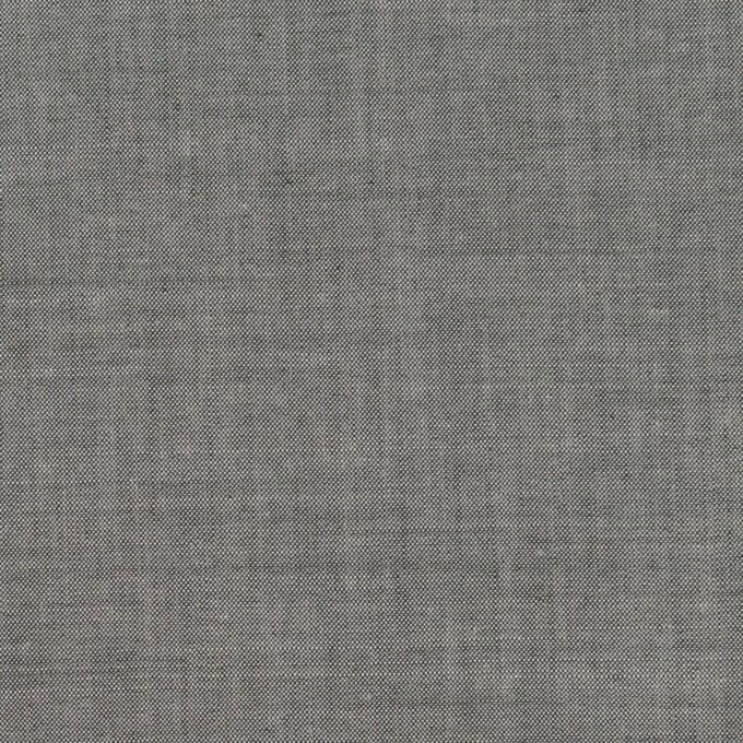 コットン&テンセル混×無地(チャコールグレー)×シャンブレー・ローン_全3色 イメージ1