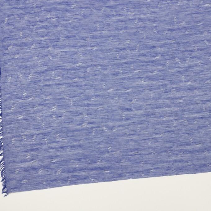コットン&シルク×幾何学模様(ブルー)×ボイルジャガード イメージ2